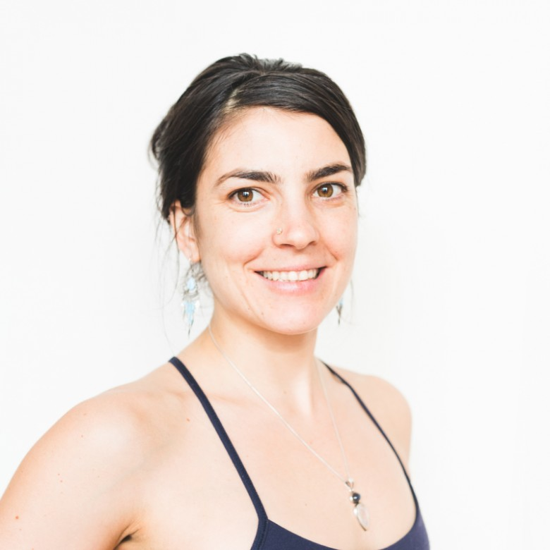 yoga teacher siobhan sears headshot at ashtanga yoga victoria photoshoot